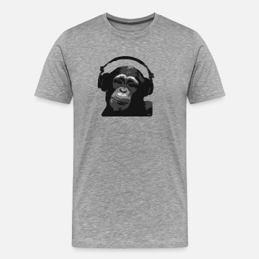 Dj Jokes DJ MONKEY by wam - Men's Premium T-Shirt