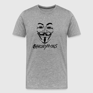 logo anarchy anonymous masque mask - T-shirt Premium Homme