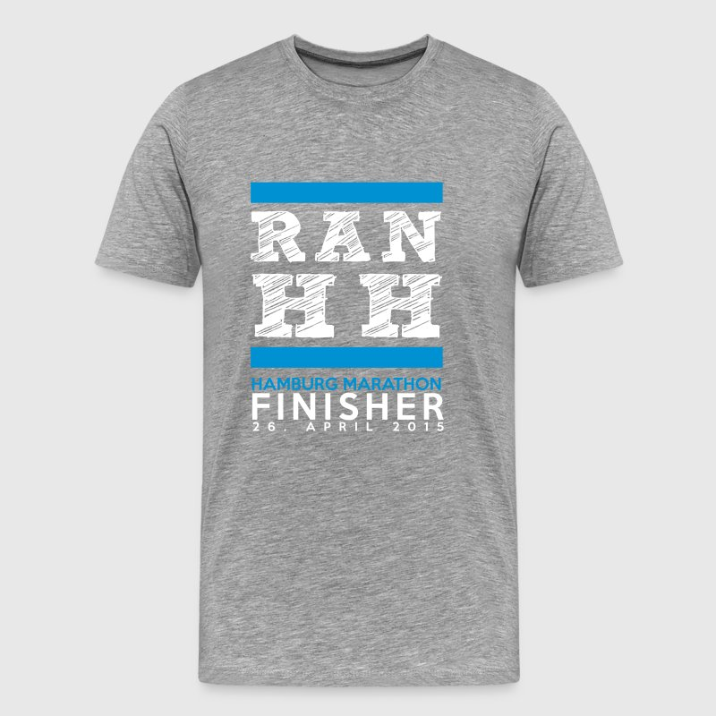 Ran Hamburg Marathon Finisher Shirt - Men's Premium T-Shirt