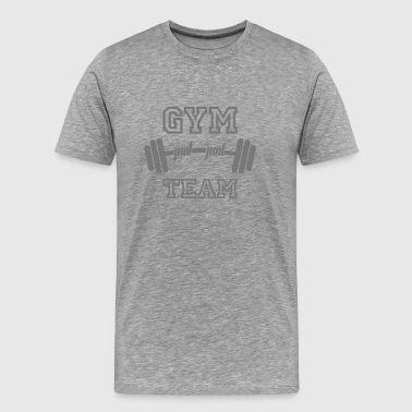 GYM TEAM | Fitness | Body Building | Hantel | Dumbbell - Men's Premium T-Shirt