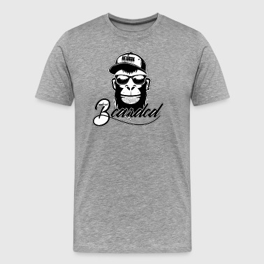 Used Naturel Bearded Ape Monkey - Men's Premium T-Shirt