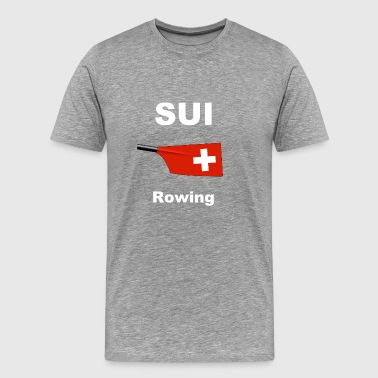 Suiss Switzerland Switzerland Suisse Rowing Rowing Aviron - Men's Premium T-Shirt