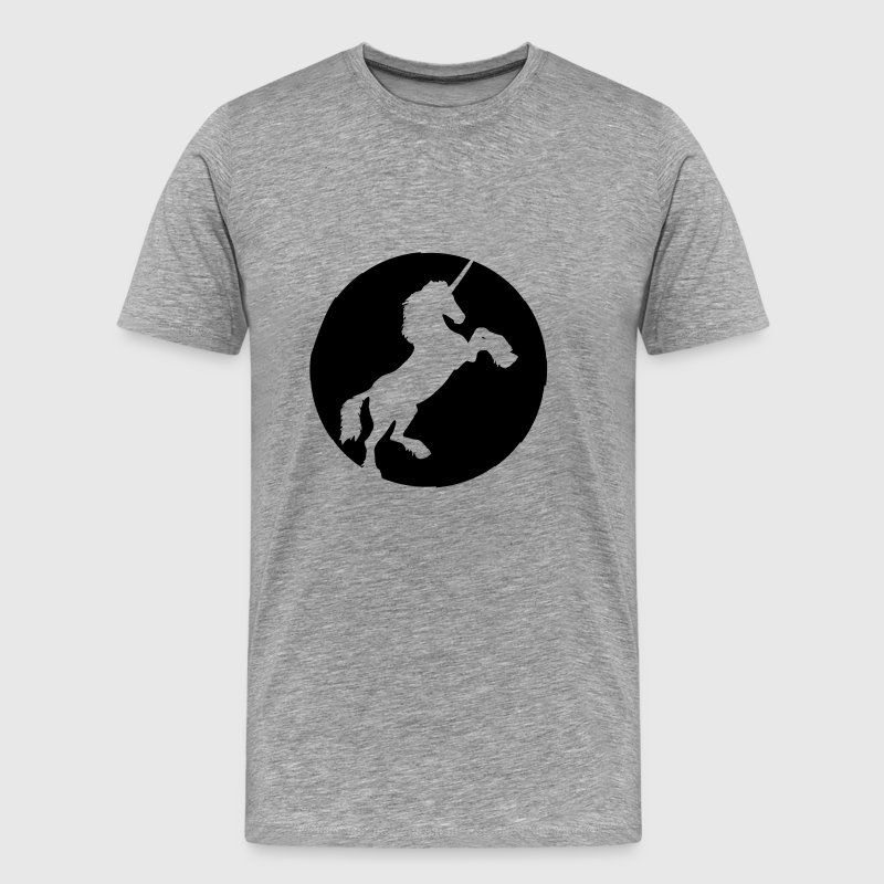 Unicorn Circle Round Logo - Men's Premium T-Shirt