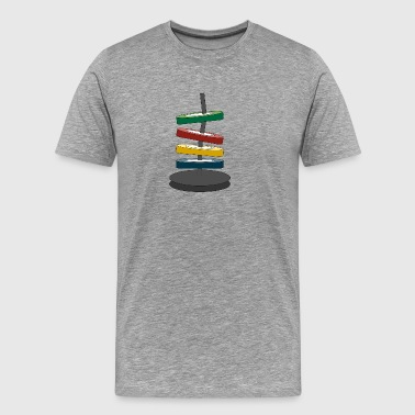 Coloured disks - Men's Premium T-Shirt