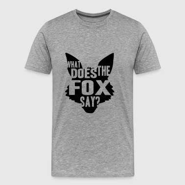 What Does The Fox Say Logo Design - Mannen Premium T-shirt