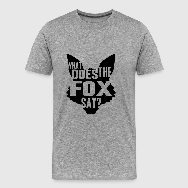 What Does The Fox Say Logo Design - Men's Premium T-Shirt