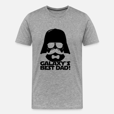 Pères Funny Best Dad of the Galaxy statement Manches longues - T-shirt Premium Homme