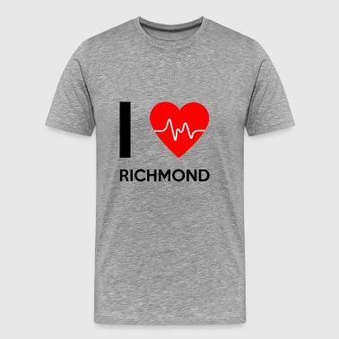 Ik houd van Richmond - I love Richmond - Mannen Premium T-shirt