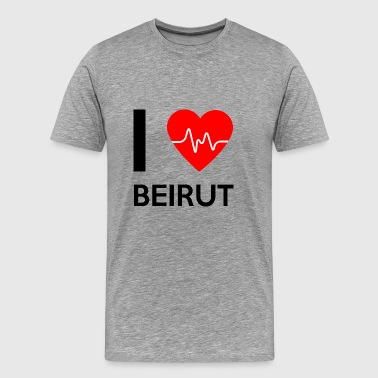I Love Beirut - I love Beirut - Men's Premium T-Shirt