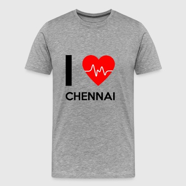 I Love Chennai - I Love Chennai - Men's Premium T-Shirt