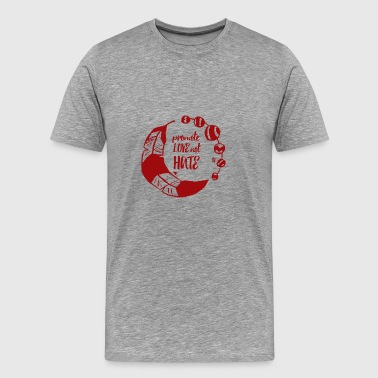 Hippie / Hippies: promouvoir l'amour not Hate - T-shirt Premium Homme
