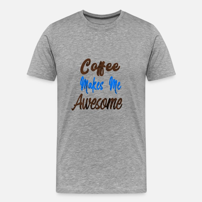 Espresso T-Shirts - Coffee - Men's Premium T-Shirt heather grey