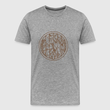 Oktoberfest beer keg geometric gift beer - Men's Premium T-Shirt