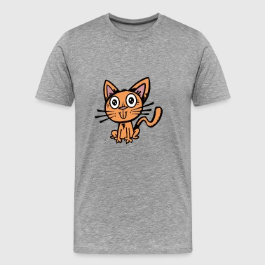 Chat chat ami animal - T-shirt Premium Homme
