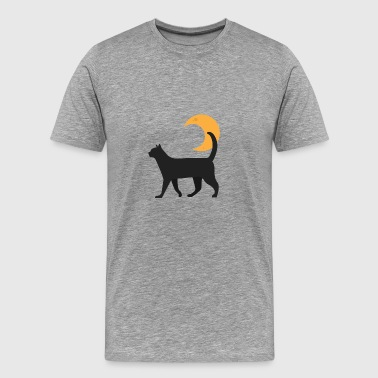 Kitty og månen - Herre premium T-shirt