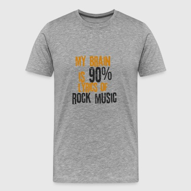 Rockmuziek Rock'n Roll-teksten Songs Hard Rock Metal - Mannen Premium T-shirt