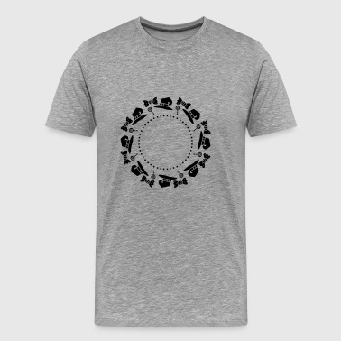 Halloween circle - Männer Premium T-Shirt