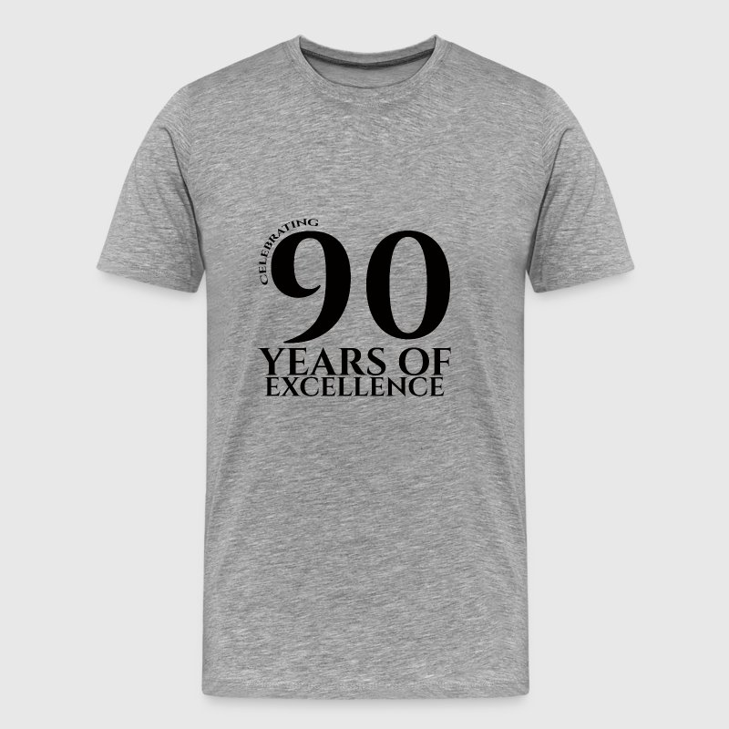 90th Birthday: Celebrating 90 Years Of Excellence - Men's Premium T-Shirt
