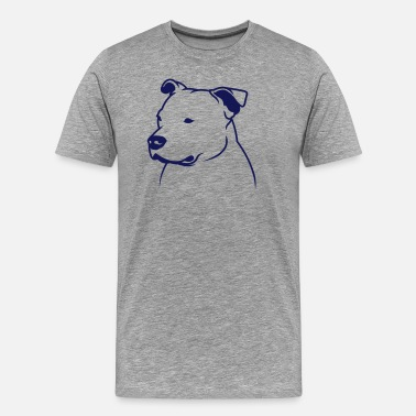 Staffbull Staffbull head2013 1c_4light - T-shirt Premium Homme
