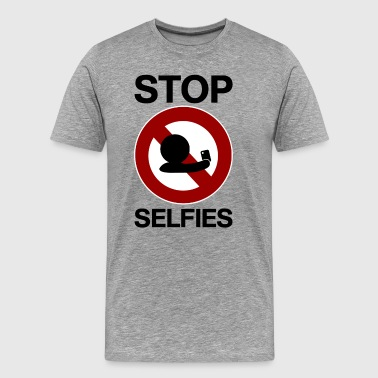 stop selfies signe d'interdiction - T-shirt Premium Homme