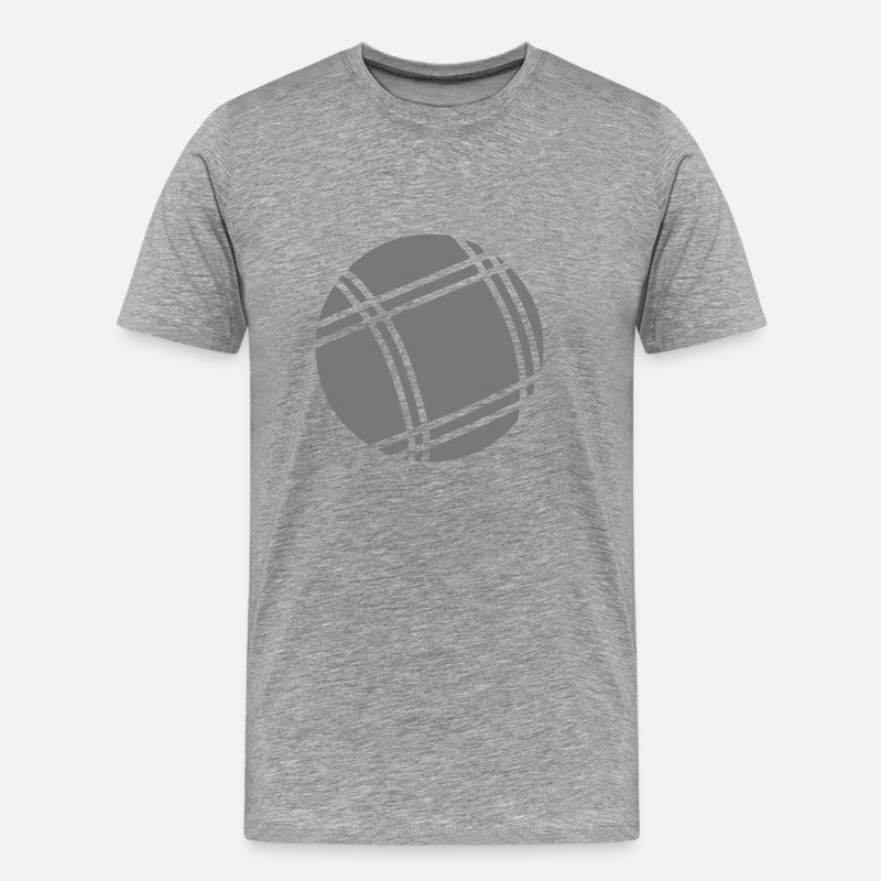 Ball T-Shirts - boule petanque 5042 - Men's Premium T-Shirt heather grey