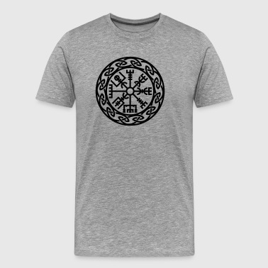 Vegvísir, Iceland, Magic Rune, Protection compass - Men's Premium T-Shirt