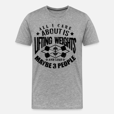 Gym Lift Funny Gym Lifting Weights - Men's Premium T-Shirt