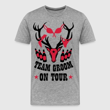 Deer Deer Team Bruidegom op Tour Party Crew 184 - Mannen Premium T-shirt