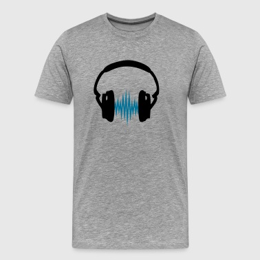 Headphone,Kopfhörer, Musik,Welle,Audio,Frequenz,2c - Männer Premium T-Shirt