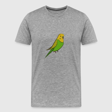 Budgerigar - Green Yellow Welli - Men's Premium T-Shirt