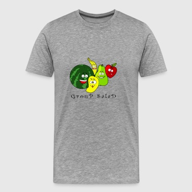 Fruit salad happy fruits group education - Men's Premium T-Shirt