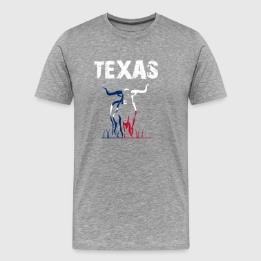 Nation Design Texas Longhorn UHY - Men's Premium T-Shirt