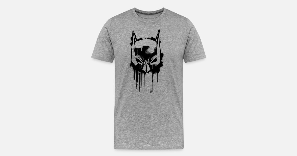 batman maske t shirt f r m nner von batman spreadshirt. Black Bedroom Furniture Sets. Home Design Ideas
