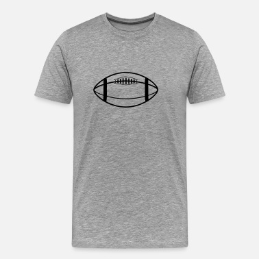 Rugby Ball rugby ball - Men's Premium T-Shirt
