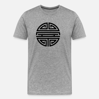 Amulet Shou, Chinese,good luck charm, symbol long life / - Men's Premium T-Shirt