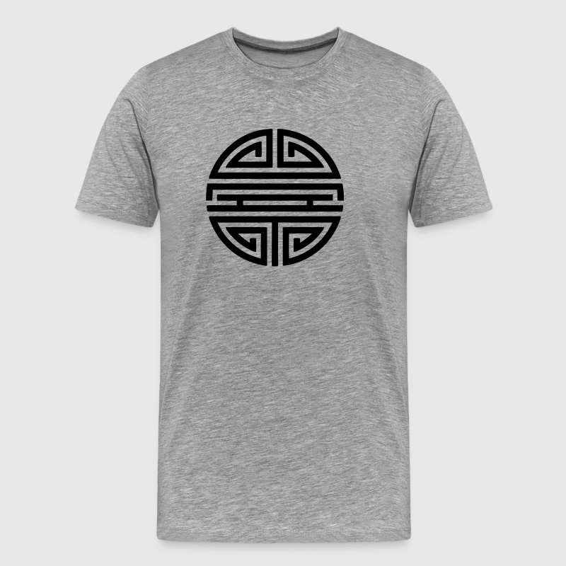 Shou, Chinese,good luck charm, symbol long life / - Men's Premium T-Shirt