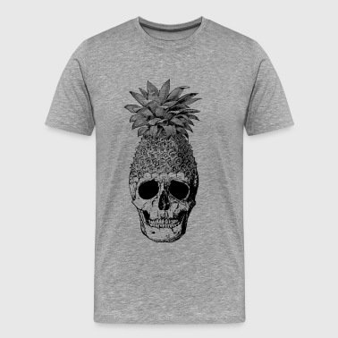 pineapplehead (black&white) - Mannen Premium T-shirt