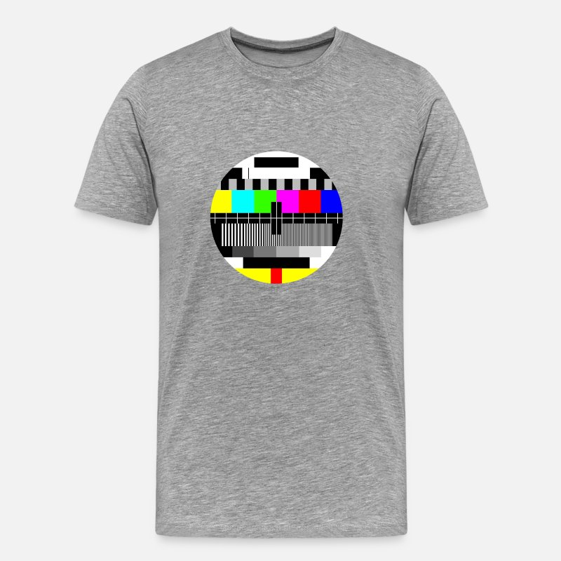 Geek T-shirts - mire tv - T-shirt premium Homme gris chiné