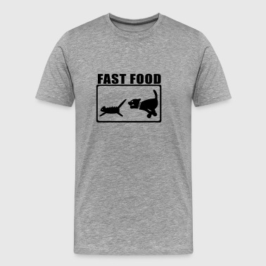 Cat Food Fast Food 2 - Men's Premium T-Shirt