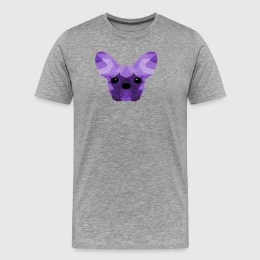 French Bulldog Low Poly Design lilac - Men's Premium T-Shirt