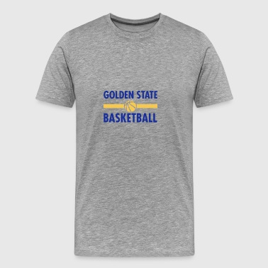 Golden State Basketball - Relevé de basket-ball - T-shirt Premium Homme