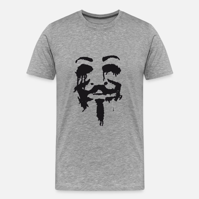 Anonymous T-shirts - Anonymous - T-shirt premium Homme gris chiné