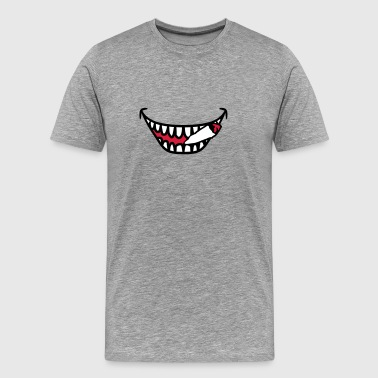 Stoners smoking weed joint mouth - Men's Premium T-Shirt
