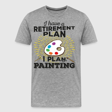 Retirement plan painting (dark) - Men's Premium T-Shirt