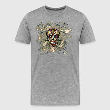 Mexican Sugar Skull - Day of the Dead - Mannen Premium T-shirt