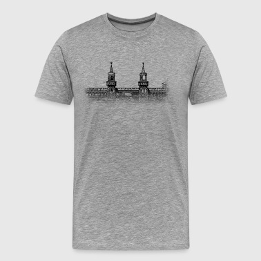 Kreuzberg Around The World: Oberbaumbrücke - Berlin - Men's Premium T-Shirt