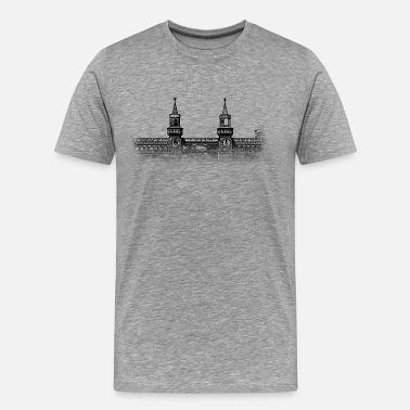 Monument Around The World: Oberbaumbrücke - Berlin - T-shirt Premium Homme