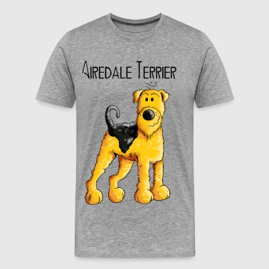 Funny Airedale Terrier - Hund - Dog - Hunde - Fun - Männer Premium T-Shirt