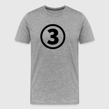 The Number Three number three - Men's Premium T-Shirt