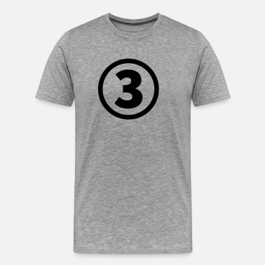 Number 3 number three - Men's Premium T-Shirt